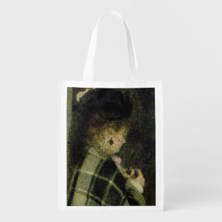 Pierre A Renoir | Young Woman with a Small Veil Reusable Grocery Bag