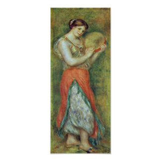 Pierre-Auguste Renoir - a dancer with castanets Posters