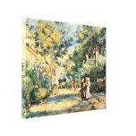 Pierre-Auguste Renoir - A Garden in Montmartre Canvas Prints