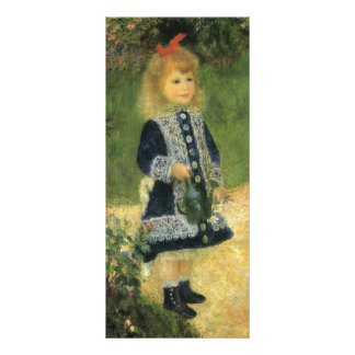 Pierre-Auguste Renoir- A Girl with a Watering Can Custom Rack Card