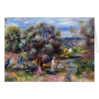 Pierre-Auguste Renoir- Aloe, Picking at Cagnes Greeting Cards