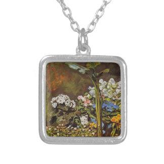 Pierre-Auguste Renoir-Arum and Conservatory Plants Custom Necklace