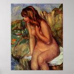 Pierre-Auguste Renoir - bañistas en una roca Posters