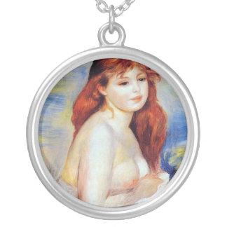Pierre Auguste Renoir - Bather Silver Plated Necklace