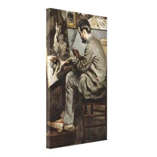 Pierre-Auguste Renoir - Bazille in the studio Canvas Prints