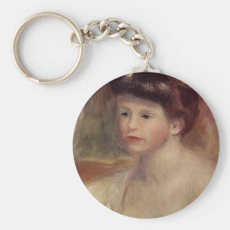 Pierre-Auguste Renoir- Bust of a Young Woman Key Chain