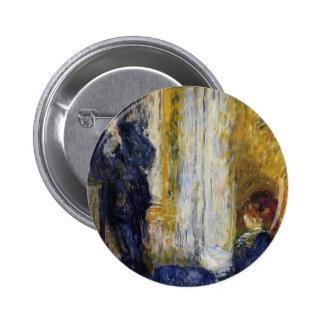 Pierre-Auguste Renoir- By the Fireside Pinback Button