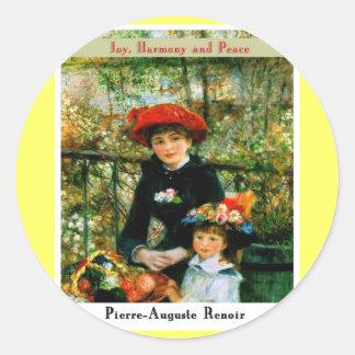Pierre Auguste Renoir Classic Round Sticker