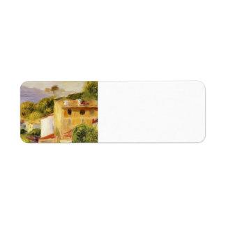 Pierre-Auguste Renoir- Coastal Landscape Custom Return Address Labels