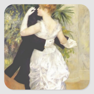 Pierre-Auguste Renoir- Dance in the City Square Stickers