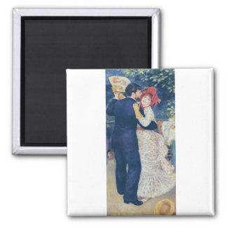 Pierre-Auguste Renoir - Danse à la campagne (1883) 2 Inch Square Magnet