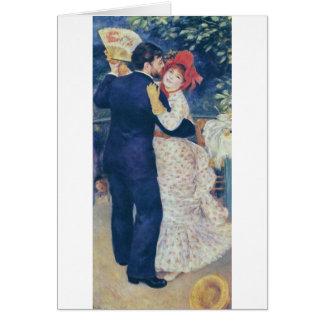 Pierre-Auguste Renoir - Danse à la campagne (1883) Stationery Note Card