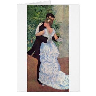 Pierre-Auguste Renoir - Danse à la ville (1883) Greeting Card