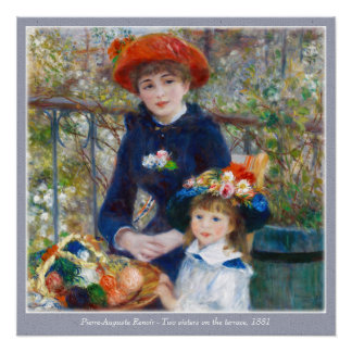 Pierre-Auguste Renoir dos hermanas CC0400 Perfect Poster
