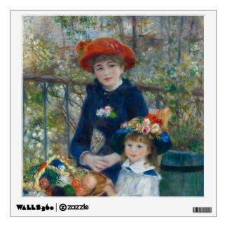 Pierre-Auguste Renoir - dos hermanas Vinilo Decorativo
