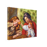 Pierre-Auguste Renoir - Gabrielle Jean and girl Stretched Canvas Prints