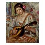 Pierre-Auguste Renoir - Girl with a Mandolin Print