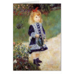Pierre-Auguste Renoir- Girl with a Watering Can Greeting Card