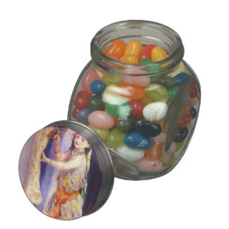 Pierre-Auguste Renoir- Girl with Falcon Jelly Belly Candy Jar