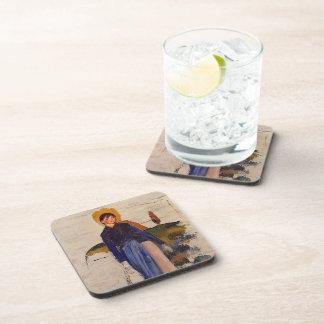 Pierre-Auguste Renoir- Girl with Red Stockings Drink Coaster
