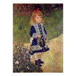 Pierre-Auguste Renoir - Girl with Watering Can Posters