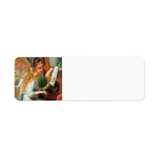 Pierre-Auguste Renoir- Girls at the Piano Return Address Labels