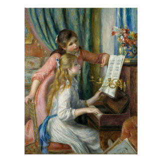 Pierre-Auguste Renoir Girls at the Piano Poster
