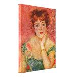 Pierre-Auguste Renoir - Jeanne Samary-portrait Stretched Canvas Prints