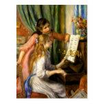 Pierre-Auguste Renoir - Jeunes Filles au Piano Post Cards