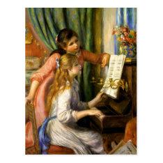 Pierre-auguste Renoir - Jeunes Filles Au Piano Postcard at Zazzle
