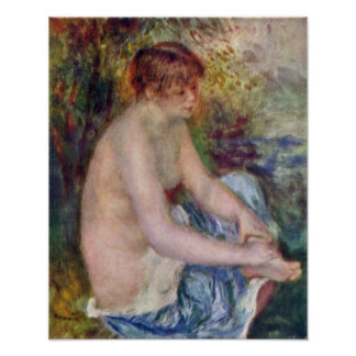 Pierre-Auguste Renoir - Kleiner Akt en azul Impresiones