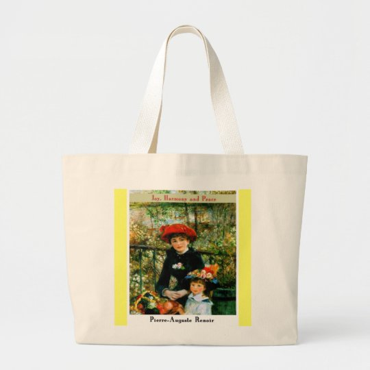 Pierre Auguste Renoir Large Tote Bag
