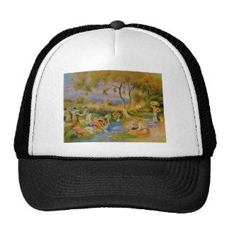 Pierre-Auguste Renoir- Laundresses at Cagnes Mesh Hat