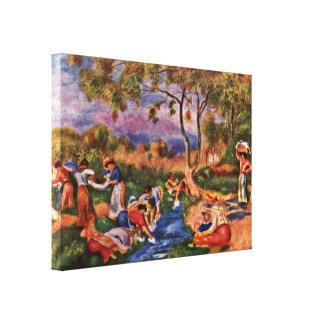 Pierre-Auguste Renoir - laundresses Canvas Print