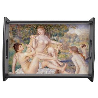 Pierre-Auguste Renoir - los bañistas grandes Bandejas