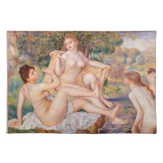 Pierre-Auguste Renoir - los bañistas grandes Mantel Individual