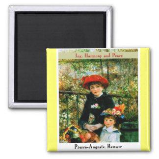 Pierre Auguste Renoir 2 Inch Square Magnet