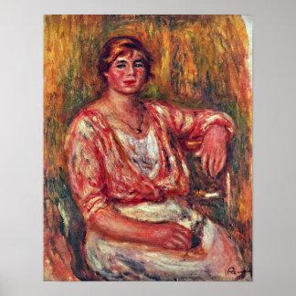 Pierre-Auguste Renoir - milkmaid Poster