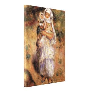 Pierre-Auguste Renoir - mujer y niño argelinos Impresión En Lona Estirada