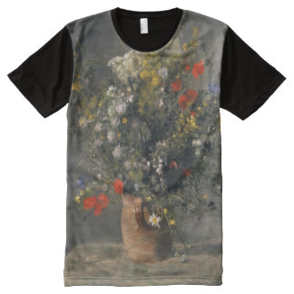 Pierre Auguste Renoir Painting, Flowers In A Vase All-Over Print Shirt