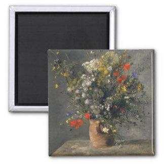 Pierre Auguste Renoir Painting, Flowers In A Vase Magnet