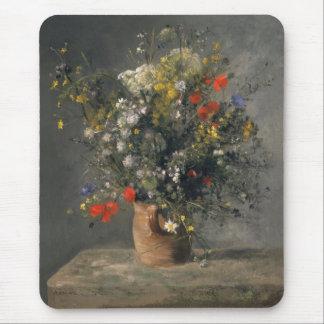 Pierre Auguste Renoir Painting, Flowers In A Vase Mouse Pad