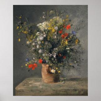 Pierre Auguste Renoir Painting, Flowers In A Vase Poster