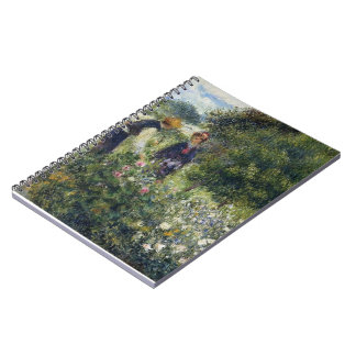 Pierre-Auguste Renoir- Picking Flowers Spiral Notebook