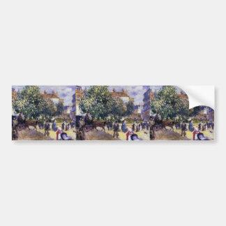 Pierre-Auguste Renoir- Place de la Trinite Car Bumper Sticker