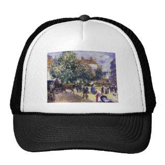 Pierre-Auguste Renoir- Place de la Trinite Mesh Hats