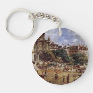Pierre-Auguste Renoir- Place de la Trinite Acrylic Key Chain