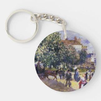 Pierre-Auguste Renoir- Place de la Trinite Acrylic Keychains