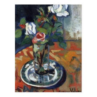 Pierre-Auguste Renoir- Roses in a Vase Postcards