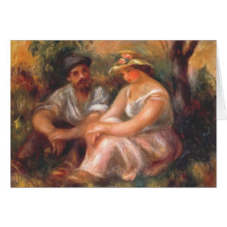 Pierre-Auguste Renoir- Seated couple Greeting Card